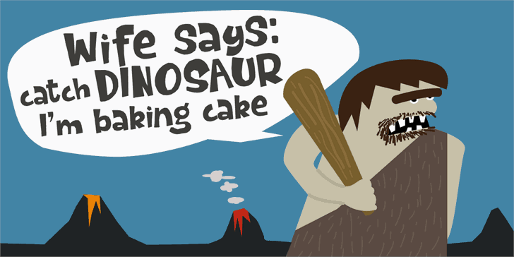 Download Dinosaur Cake font (typeface)