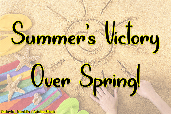 Download Summers Victory Over Spring font (typeface)