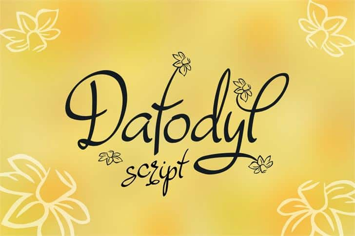 Download Dafodyl font (typeface)