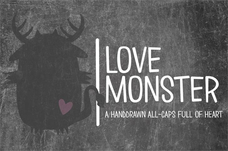Download Love ∞ Monster font (typeface)