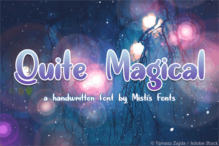 Download Quite Magical font (typeface)