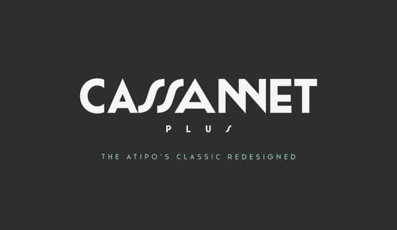 Cassannet Plus Regular шрифт скачать бесплатно