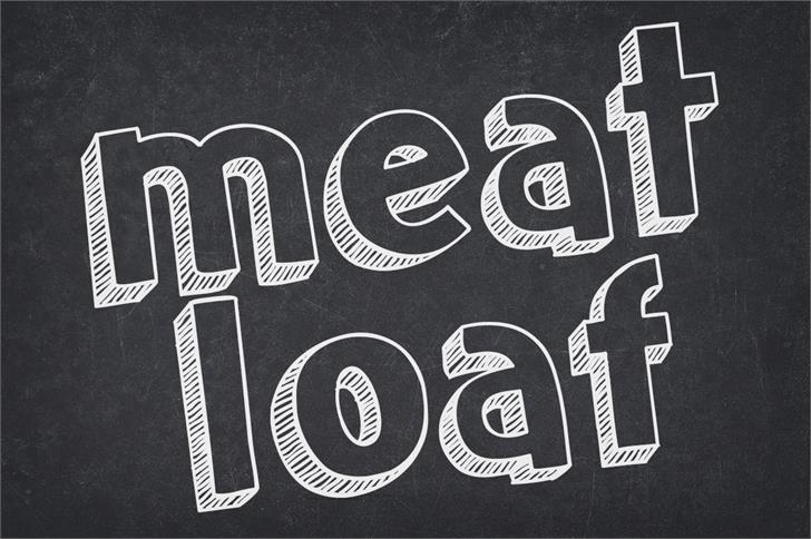 Download Meatloaf font (typeface)