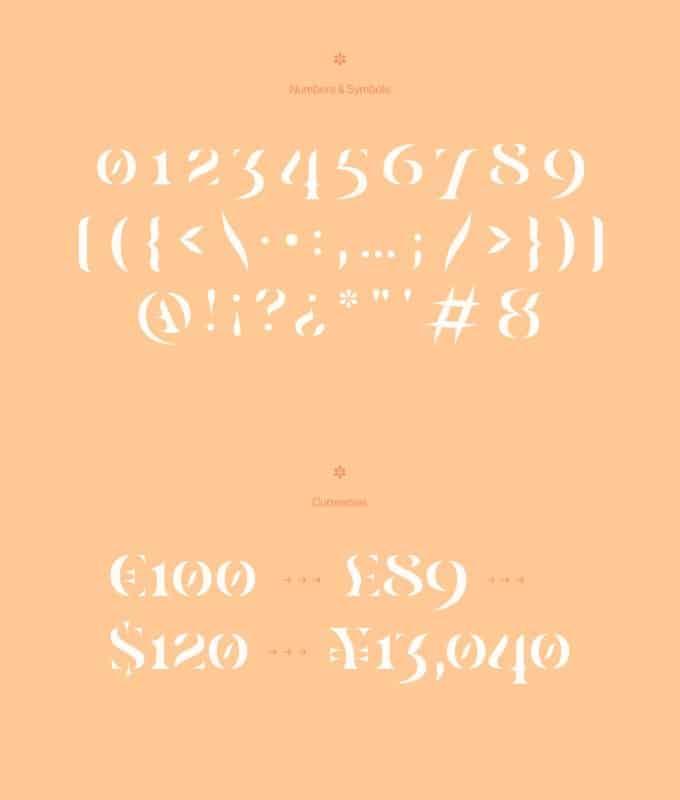 Casa Stencil шрифт скачать бесплатно