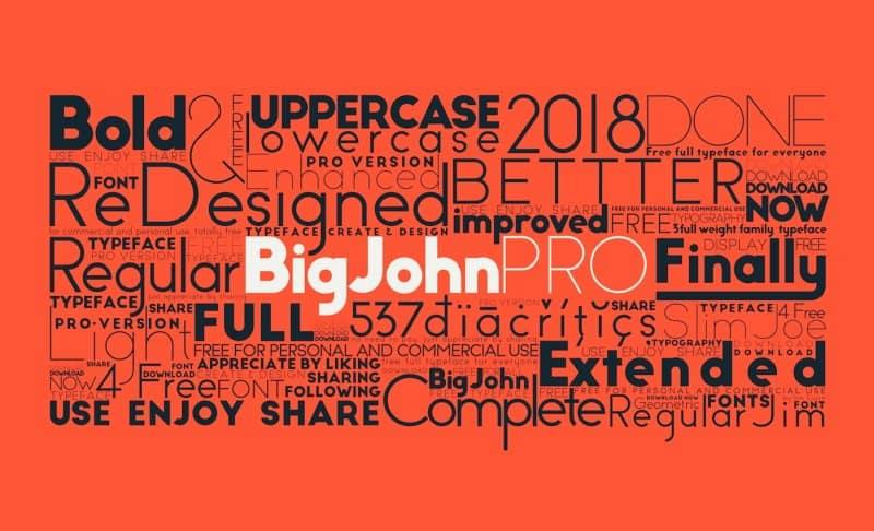 Download Big John PRO font (typeface)