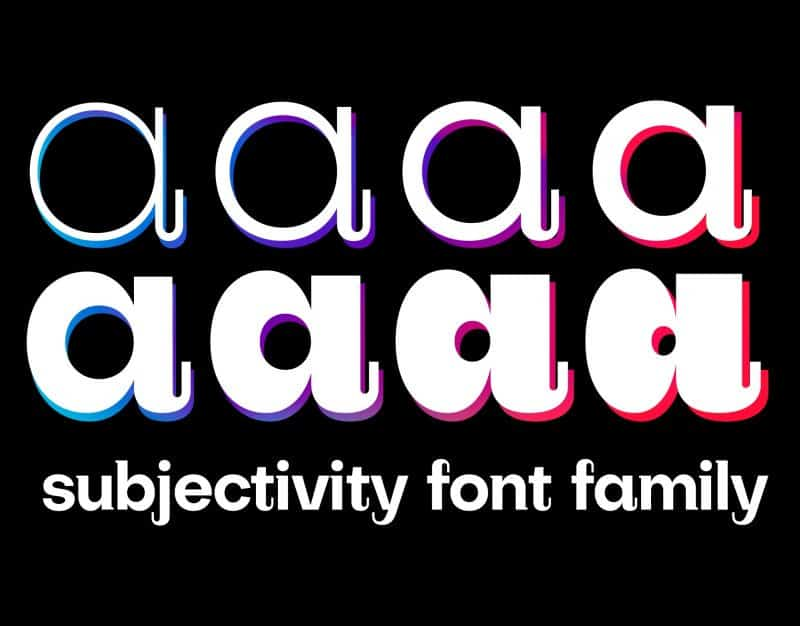 Download Subjectivity font (typeface)