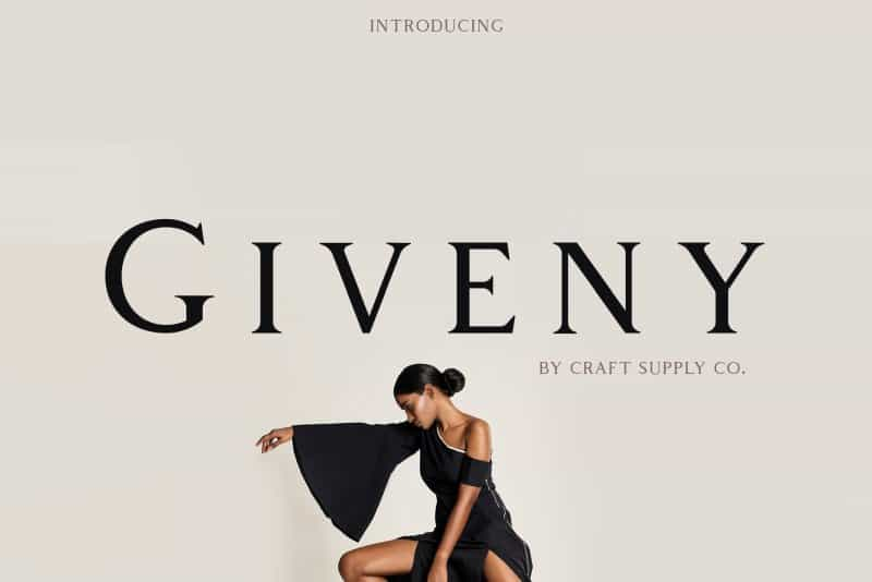 Download Giveny font (typeface)