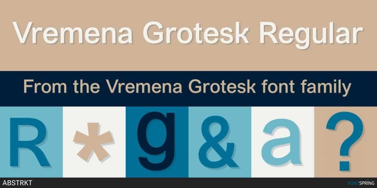 Download Vremena Grotesk font (typeface)