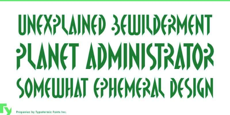 Download Propaniac font (typeface)