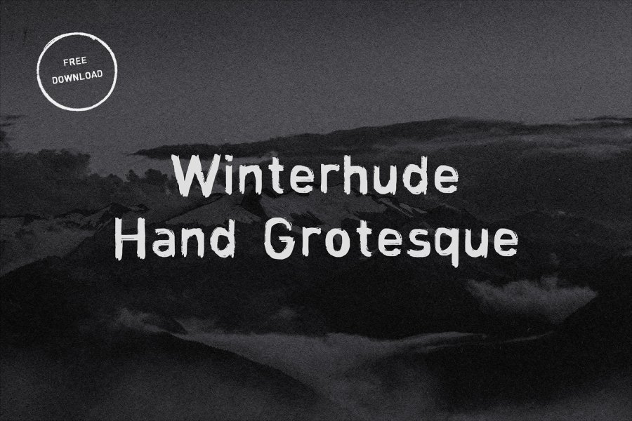 Download Winterhude Hand Grotesque font (typeface)