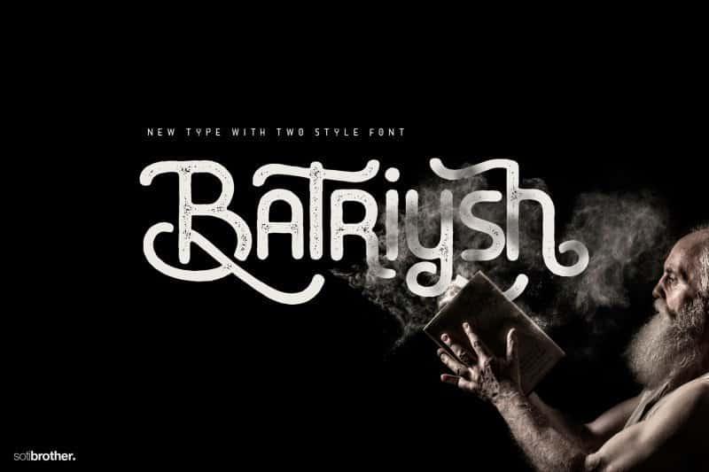 Batriysh шрифт скачать бесплатно