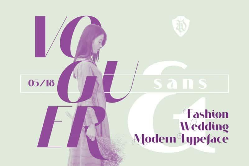 Download Voguer Sans font (typeface)