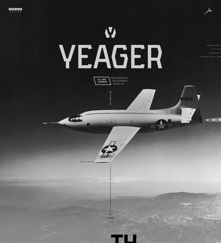 Download Yeager font (typeface)