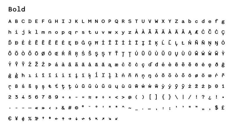 Download Dita Grotesk Mono font (typeface)