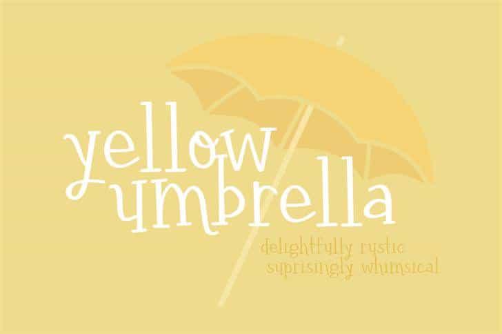 Yellow umbrella шрифт скачать бесплатно