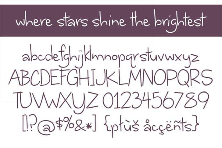 Download Where stars shine the brightest font (typeface)