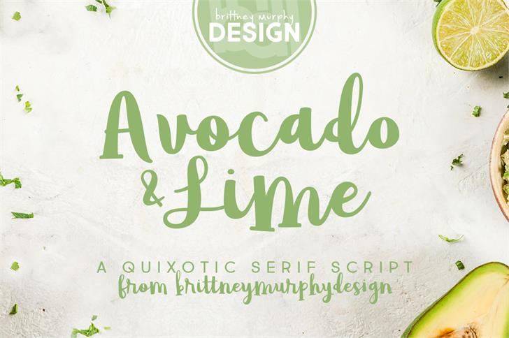 Download Avocado & Lime font (typeface)