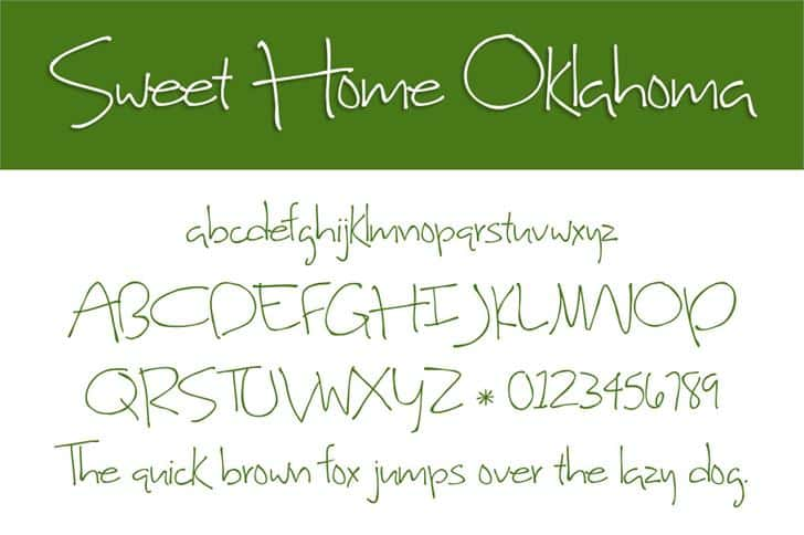Download Sweet Home Oklahoma font (typeface)