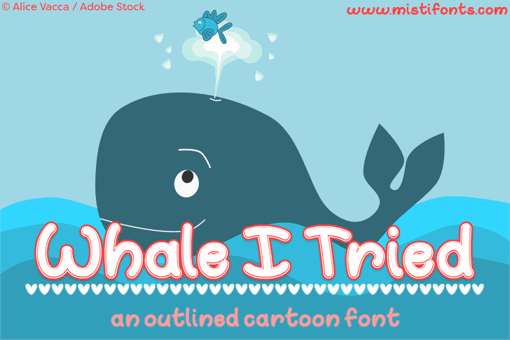 Download Whale I Tried font (typeface)