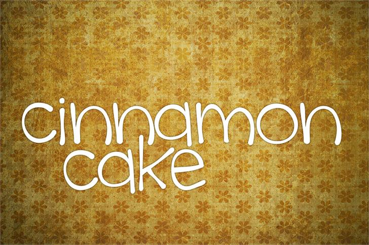Download Cinnamon cake font (typeface)
