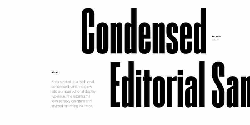 Download MT Knox font (typeface)