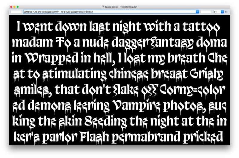 Download Trickster font (typeface)
