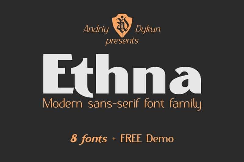 Download Ethna Light Demo font (typeface)
