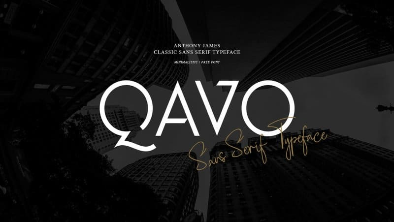 Download Qavo font (typeface)