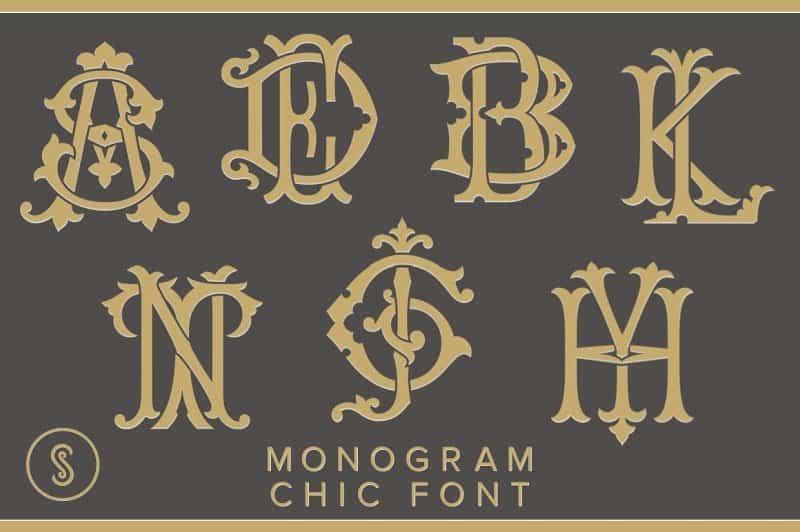 Monogram Chic шрифт скачать бесплатно