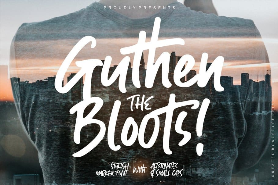 Download Guthen Bloots font (typeface)