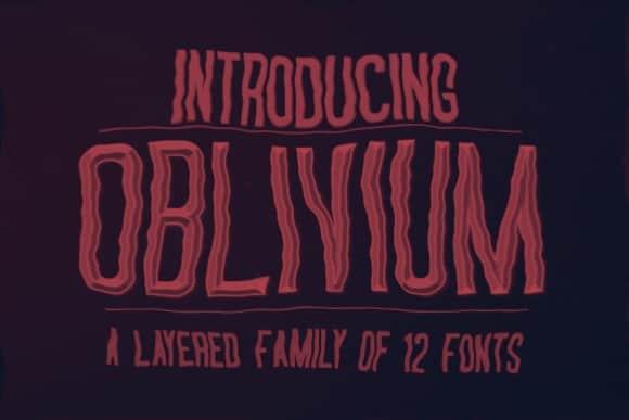 Download Oblivium-glitch font (typeface)