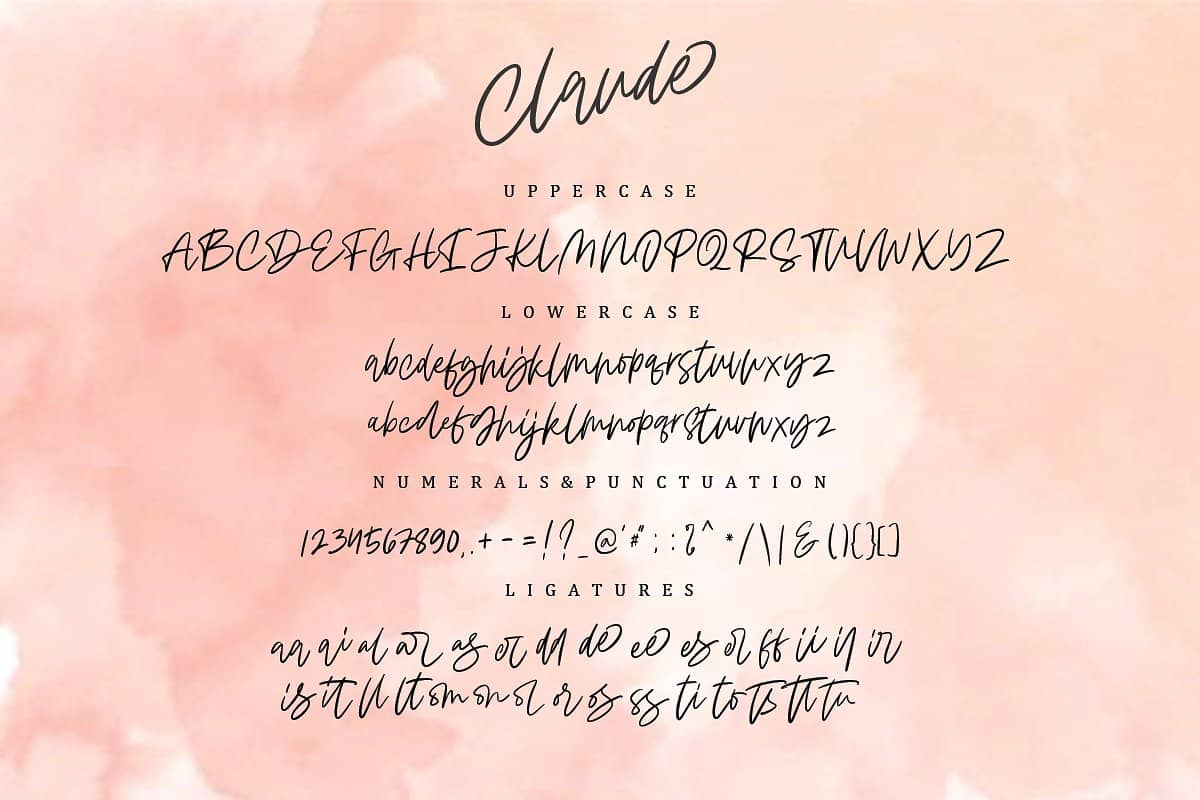 Download Claude Handwritten font (typeface)
