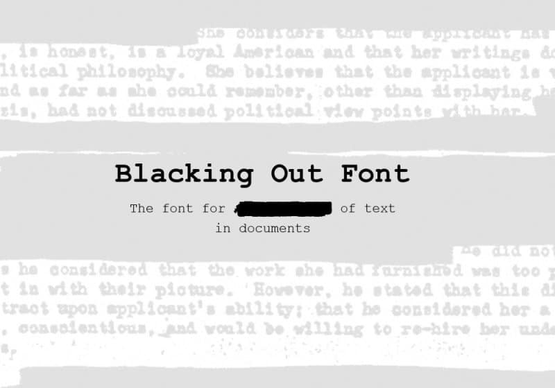 Download Blacking Out font (typeface)