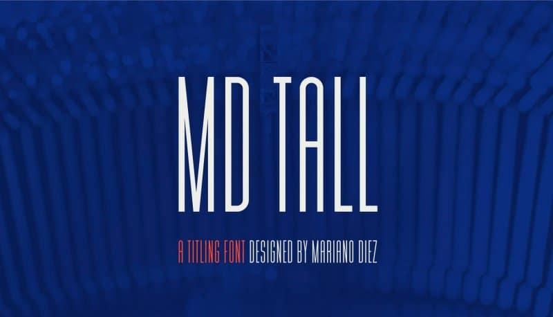 MD Tall шрифт скачать бесплатно