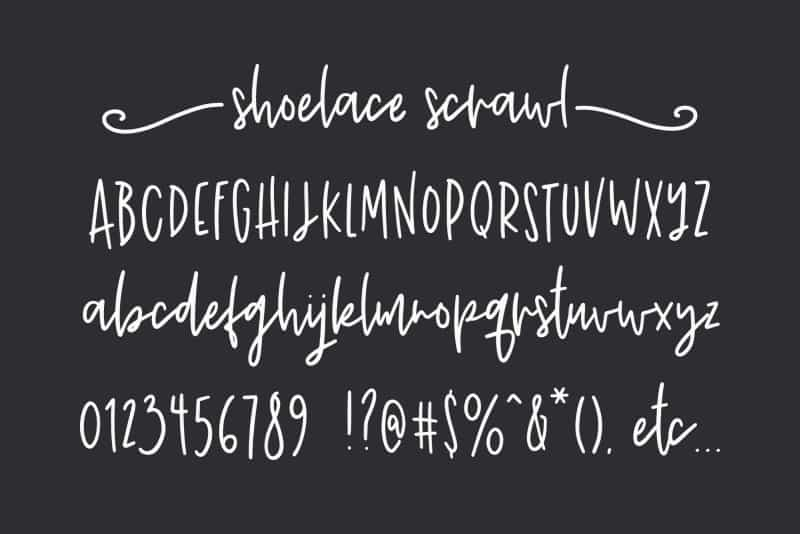 Download Shoelace Scrawl font (typeface)