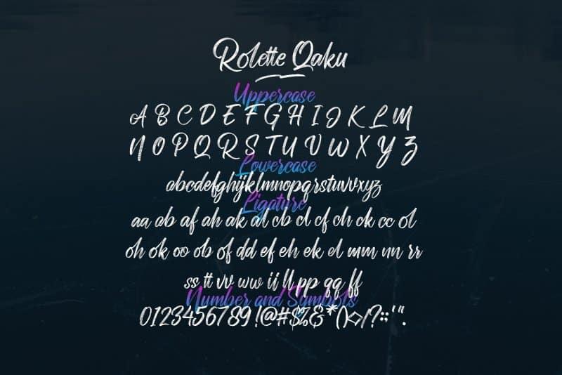 Download Rollete Qaku font (typeface)