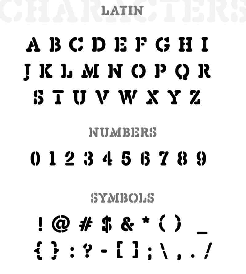 Download Depravo Stencil font (typeface)