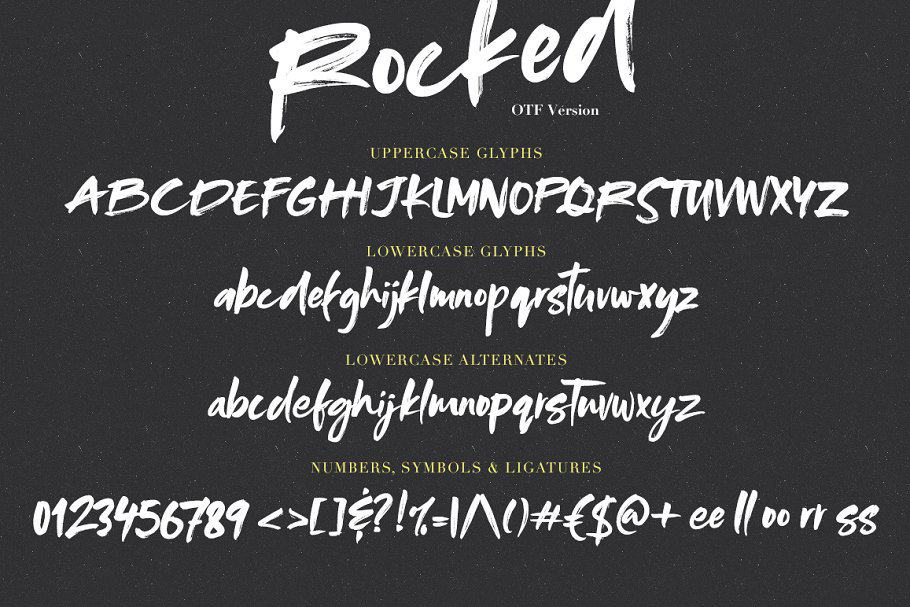 Download Rocked font (typeface)