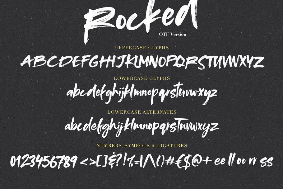 Rocked шрифт скачать бесплатно