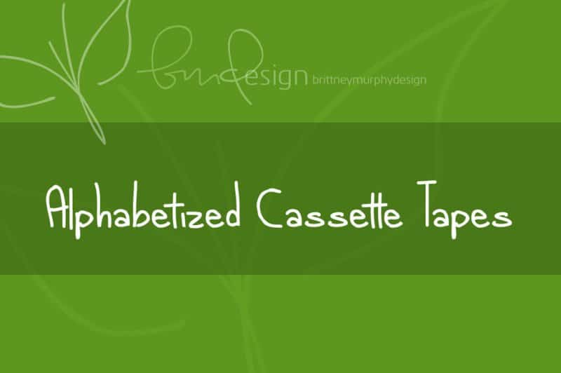 Download Alphabetized cassette tapes font (typeface)
