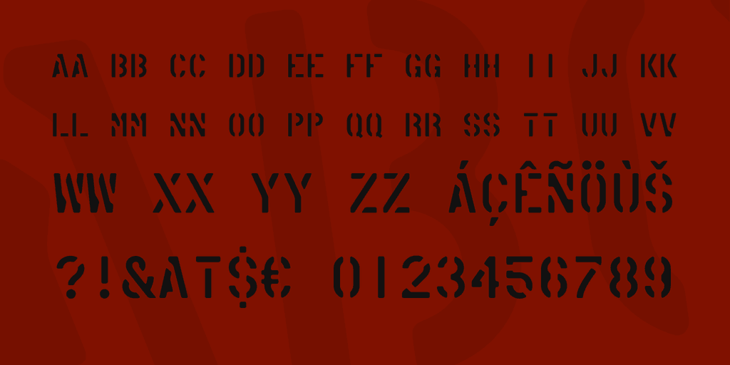 Download American Stencil font (typeface)