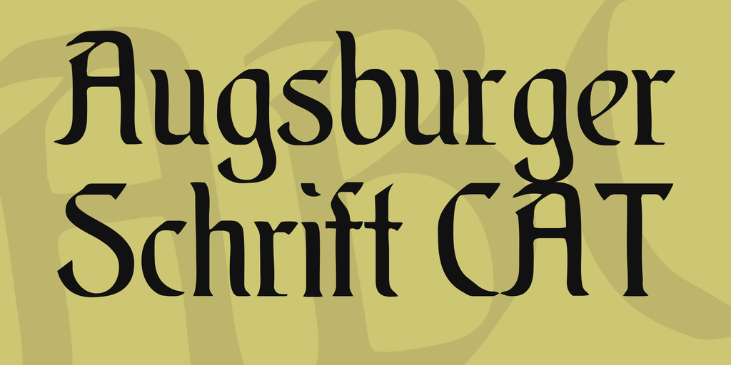 Download Augsburger font (typeface)