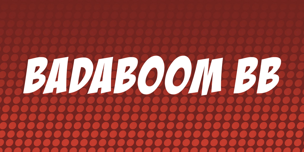 Download BadaBoom BB font (typeface)