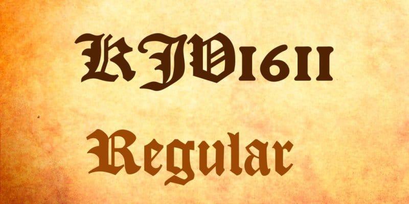 Download KJV 1611 font (typeface)