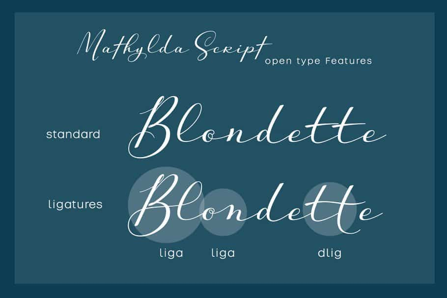 Download Mathylda Script font (typeface)