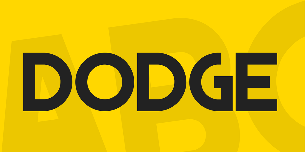 DODGE шрифт скачать бесплатно