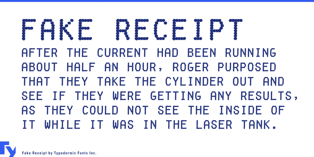 Download Fake Receipt font (typeface)