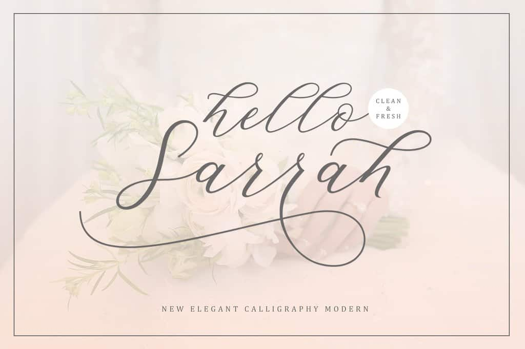 Download Hello Sarrah font (typeface)