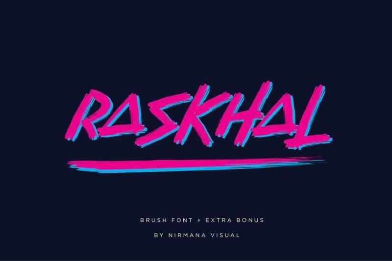 Download Raskhal font (typeface)
