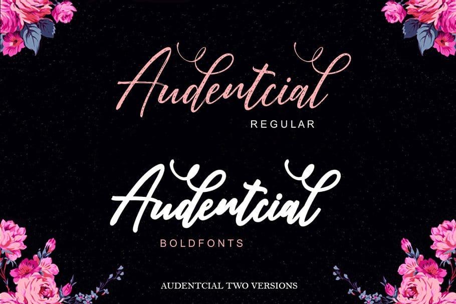 Download Audentcial font (typeface)